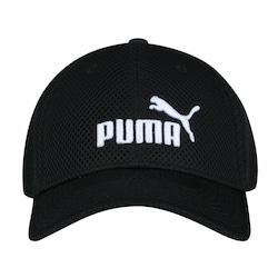 Boné Puma Mesh - Strapback - 5 Panel - Adulto - PRETO