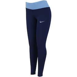 Calça Legging Nike Power Essential Run Tight - Feminina - AZUL ESCURO