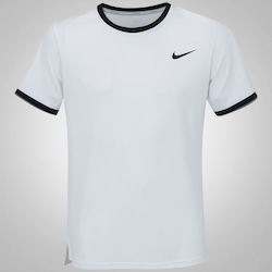 Camiseta Nike Court Dry Top Team - Masculina - BRANCO/PRETO