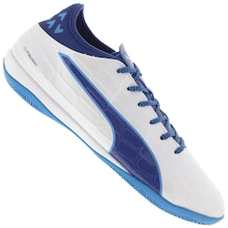 Chuteira Futsal Puma Evotouch 3 IT IN - Adulto - BRANCO/AZUL