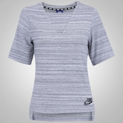 Camiseta Nike Advance V15 Top Knit - Feminina - CINZA CLARO