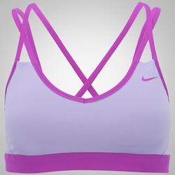 Top Fitness com Bojo Nike Pro Indy Strappy - Adulto - ROXO CLA/ROXO