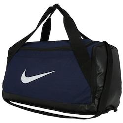 Mala Nike Brasilia Duffel Small - 40 Litros - AZUL ESC/BRANCO