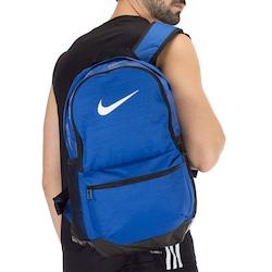 Mochila Nike Brasilia Backpack M - 24 Litros - AZUL ESC/PRETO
