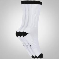 Kit de Meias Nike SB Crew com 3 Pares - Adulto - BRANCO/PRETO