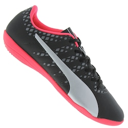 Chuteira Futsal Puma Evopower Vigor 4 BDP IT IN - Adulto - PRETO/CINZA CLARO