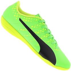 Chuteira Futsal Puma Evopower Vigor 4 BDP IT IN - Adulto - VERDE CLARO/PRETO