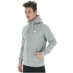 Jaqueta De Moletom Com Capuz Nike Hoodie Fz Flc Club - Masculina - Cinza d30ce7c98e9