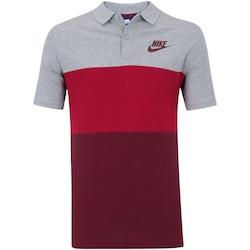 Camisa Polo Nike Matchup - Masculina - Cinza/Vinho