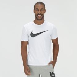 Camiseta Nike Hangtag Swoosh - Masculina - BRANCO