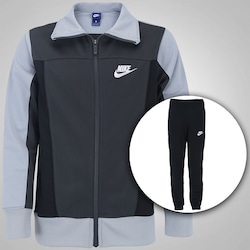 Agasalho Nike Sportswear Warmup Track - Infantil - CINZA ESCURO/PRETO