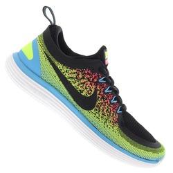 Tênis Nike Free RN Distance 2 - Masculino - PRETO/VERDE CLA