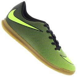 Chuteira Futsal Nike Bravata II IC - Infantil - PRETO/VERDE CLA