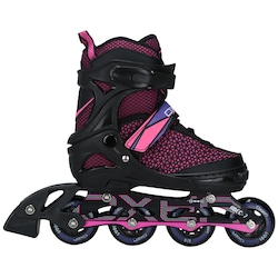 Patins Oxer Pixel Candy - In Line - Fitness - Ajustável - PRETO/ROSA