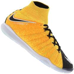 Chuteira Futsal Nike HypervenomX Proximo II DF IC - Adulto - AMARELO ESC/PRETO