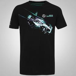 Camiseta Puma Mercedes AMG Petronas Drivers - Masculina - PRETO/BRANCO