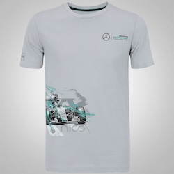 Camiseta Puma Mercedes AMG Petronas Drivers - Masculina - CINZA CLARO