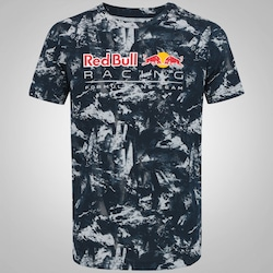 Camiseta Puma Red Bull Racing Allover - Masculina - AZUL ESC/CINZA CLA