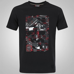 Camiseta Puma Scuderia Ferrari Graphic - Masculina - PRETO/VERMELHO