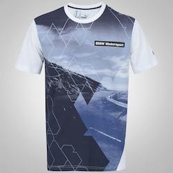 Camiseta Puma BMW Motorsport Race - Masculina - BRANCO/AZUL ESC