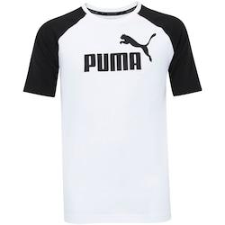 Camiseta Puma Ess No.1 Logo Raglan - Masculina - BRANCO
