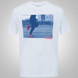 Camiseta Puma Explosive Photoprint - Masculina - BRANCO