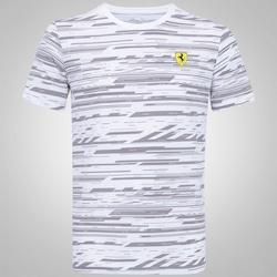 Camiseta Puma Scuderia Ferrari Graphic AOP - Masculina - BRANCO/CINZA ESC