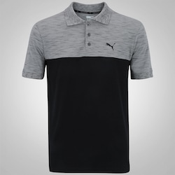 Camisa Polo Puma Rebelblock - Masculina - PRETO/CINZA