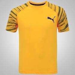 Camiseta Puma Dri Release SS Graphic - Masculina - AMARELO