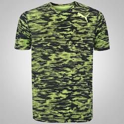 Camiseta Puma Essential Tech Graphic - Masculina - VERDE CLARO/PRETO