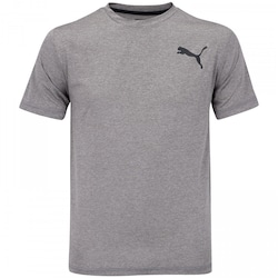 Camiseta Puma Essential Puretech Heather - Masculina - CINZA
