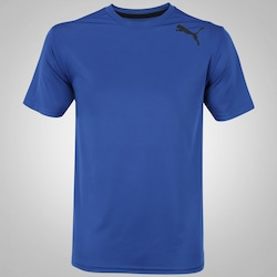 Camiseta Puma Essential SS - Masculina - AZUL ESCURO