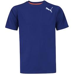 Camiseta Puma Essential SS - Masculina - AZUL ESC/BRANCO