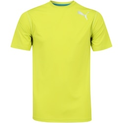 Camiseta Puma Essential SS - Masculina - Amarelo Fluor
