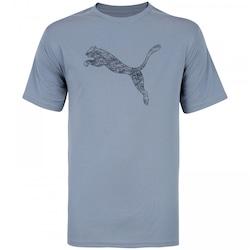 Camiseta Puma Essential Cat - Masculina - AZUL