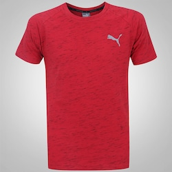 Camiseta Puma Evostripe Spaceknit - Masculina - VERMELHO