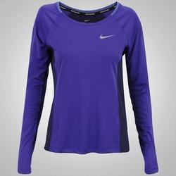 Camiseta Manga Longa Nike Dry Miler Top - Feminina - AZUL