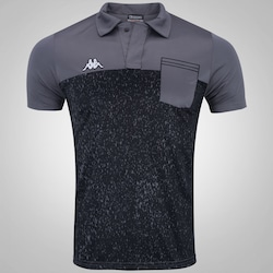 Camisa Polo Kappa Granite - Masculina - CINZA ESCURO
