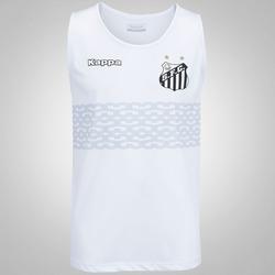 Camiseta Regata do Santos 2017 Kappa Calvet - Masculina - BRANCO
