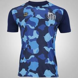 Camiseta do Santos 2017 Belmiro Kappa - Masculina - AZUL ESCURO