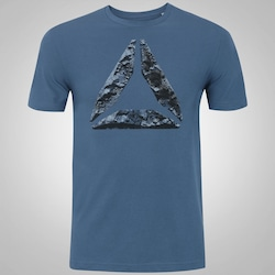 Camiseta Reebok Break e Build - Masculina - AZUL ESCURO