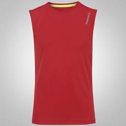Camiseta Regata Reebok Run Basic - Masculina - VERMELHO