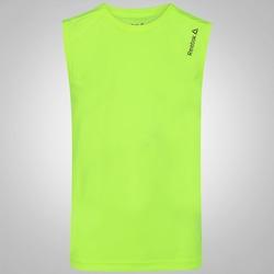 Camiseta Regata Reebok Run Basic - Masculina - VERDE CLARO
