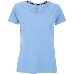 Camiseta Nike Dry Miler Crew - Feminina - AZUL/PRATA