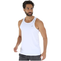 Camiseta Regata com Proteção Solar UV Asics Premium - Masculina - BRANCO