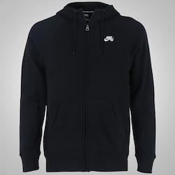 Jaqueta de Moletom com Capuz Nike SB Icon FZ Hoodie - Masculina - PRETO