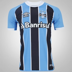 Camisa Do Grêmio I 2017 Umbro - Masculina - Azul preto 78aabb1427ed3