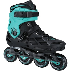 Patins Oxer Skyline - In Line - Fitness - ABEC 7 - Adulto - PRETO/AZUL