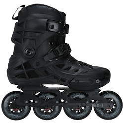 Patins Oxer Black Burn - In Line - Fitness - ABEC 7 - Adulto - PRETO