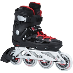 Patins Oxer Roller - In Line - Fitness - ABEC 7 - Adulto - PRETO/VERMELHO
